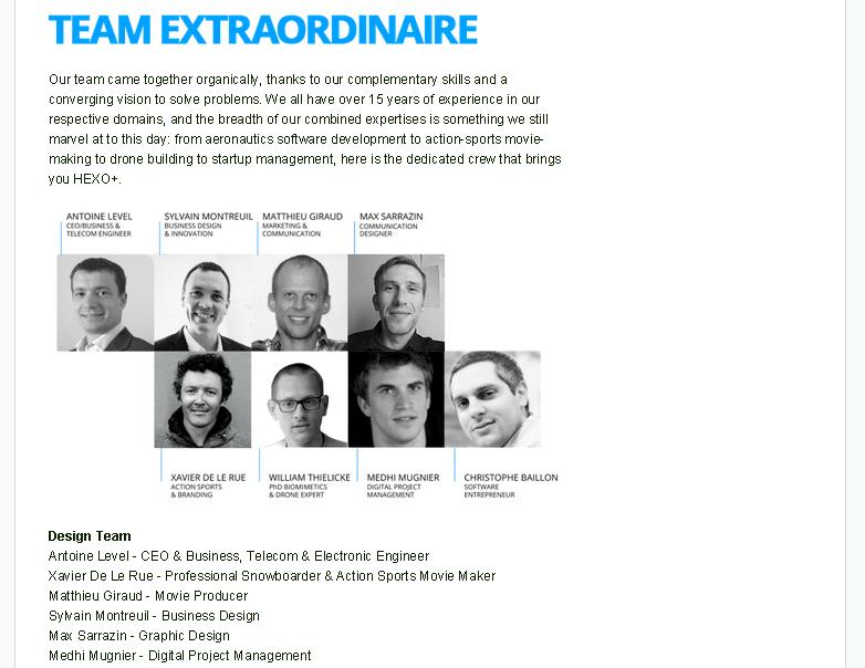 Kickstarter Team - HEXO Drone