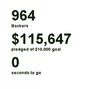 swivelCard Kickstarter Stats