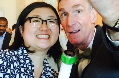 Lisa Fetterman and Bill Nye